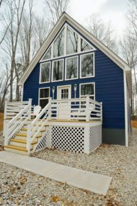 Photo for Beautiful Blue Cabin in quiet lake community