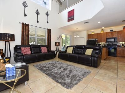 Photo for WELL APPOINTED 6BD HOME w/Pool, Lanai & Themed Game RM @Watersong RSRT Community, Close to Disney