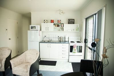 Open plan kitchen and living room