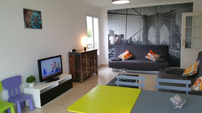 Photo for Magnificent Apartment 3 rooms Swimming pool Garage Wifi 100 m Sea Juan les Pins