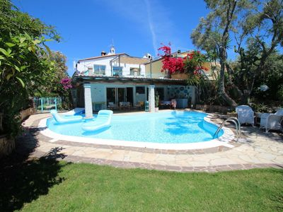 Photo for Wonderful private villa for 8 people with A/C, WIFI, hot tub, private pool, TV and parking