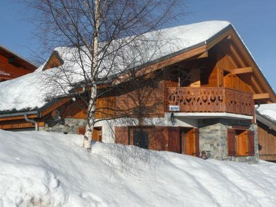Photo for Superb stone and wooden chalet in La Toussuire 1800