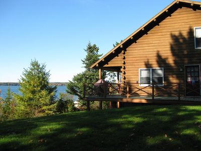 Photo for Family & Pet Friendly Log House On Casco Bay