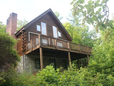 Photo for Beautiful Private Log Cabin Nestled In A Gated Community With Mountain Views