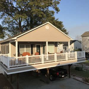 Photo for Beautiful 3 bedroom raised beach house available in Ocean Lakes!