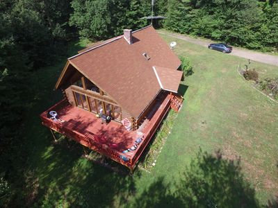 Photo for Sfa Lodge Log Cabin 4 Bd - 2 Ba Nestled In The Woods 5 Mins From Berkshire East