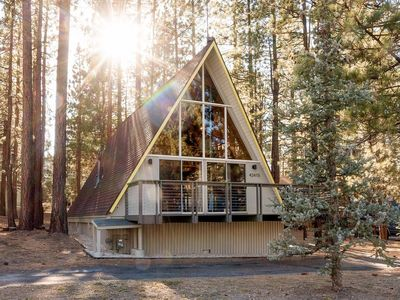 Photo for ~Base Camp~Mid-Century Mod Central A-Frame Chalet~Hot Tub~