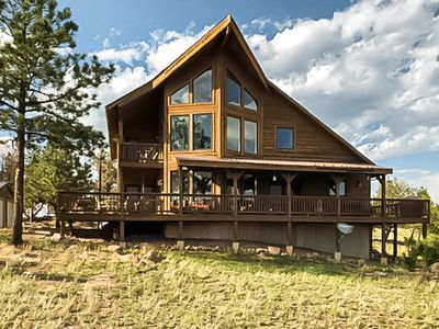 Photo for NEW LISTING! Secluded retreat w/ stunning views, spacious deck, & large loft!