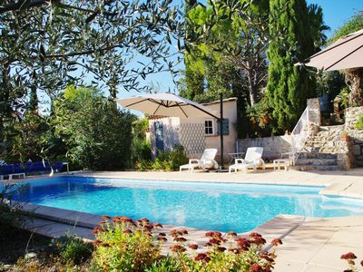 Photo for Charming villa with beautiful garden and pretty views 300 m from the village.
