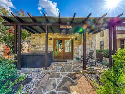 Photo for Wine country cabin w/a private hot tub, wet bar, & more!