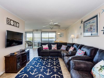 Photo for Quiet Beach Condo with Unblocked Views of Little Lagoon and Easy Access to the B