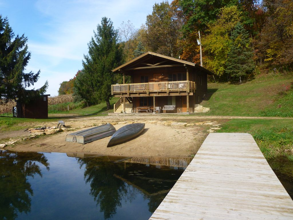 Cabin On The Lake Is Your Own Hideaway On A Private 10 Acre Lake