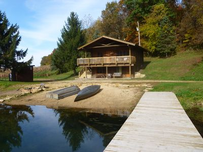 Cabin on ther Lake -view from the dock