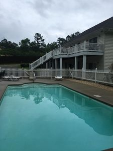 Photo for PRIVATE Pool Lake side.  Large seven bedroom home.  Pool open to mid October