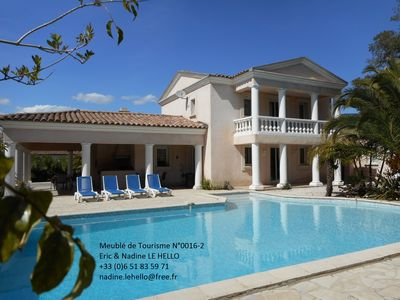 Photo for VAR VILLA HEATED POOL / 8 Pool / PINGPONG / WIFI /AIR CONDITIONNED /2 ACCOMMODAT