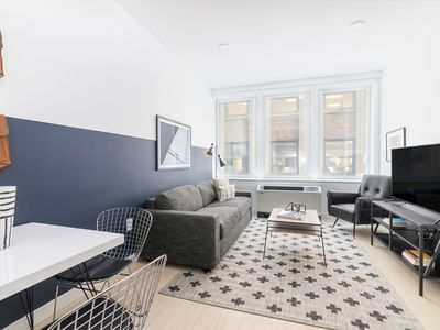 Photo for Sonder | Stock Exchange | Sunny 1BR + Sofa Bed