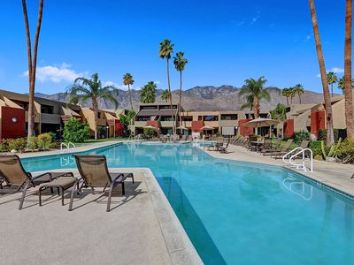 Photo for Perfect Ground Floor Condo, Private Patio Walk to Smoketree Commons