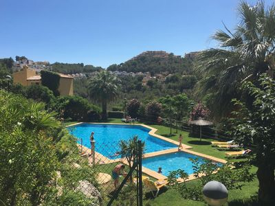Photo for Charming villa with large shared pool and beautiful garden in Altea Hills