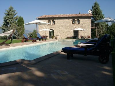 Photo for Villa Cottage Umbertide, close to Gubbio and Assisi, with panoramic pool !!!