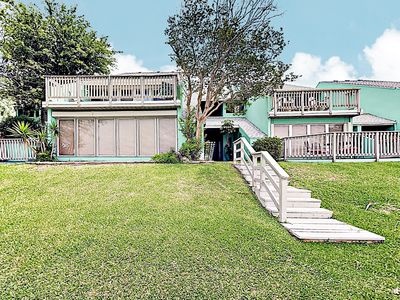 Photo for New Listing! Coastal Canal-Front Oasis w/ Pool, Private Dock & 3 Balconies