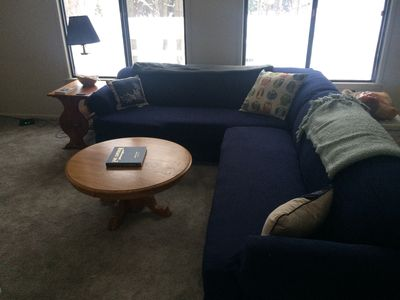 Upstairs living room - pull out bed