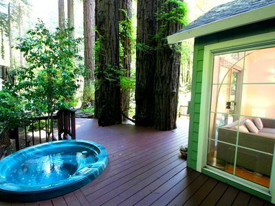 Photo for Creek-side Sanctuary + Private Cottage!Wine Country!Hot Tub!