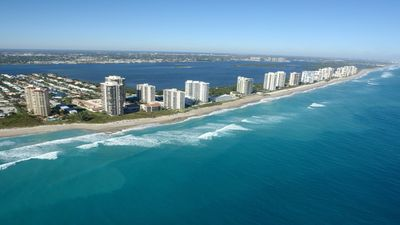Singer Island is just over the bridge by Coralcopia.