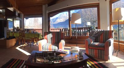 Photo for APARTMENT in F3 DUPLEX of 85 m2, 6P. PANORAMIC VIEW, CHAMONIX