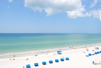The beach right off of your balcony. Cabana rental available.