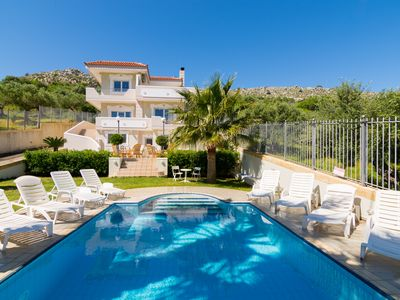 Photo for ArisPalace 300m² villa with private pool, ideal for family vacation quiet place
