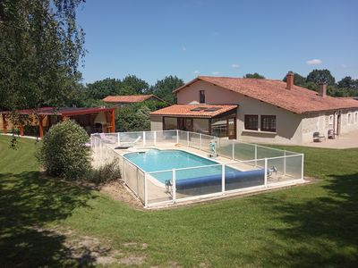 Photo for RUSTIC cottage - 14 people with private pool in the countryside - Vendée