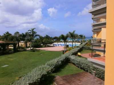 Photo for BEACHFRONT - EAGLE BEACH - OCEANIA RESORT - Superior View 2BR condo - E225-2