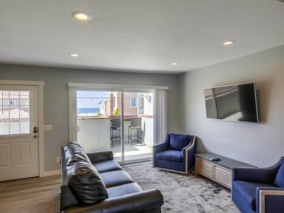 Photo for NEW REMODEL! Chic Beach Studio, walk to everything! Patio with ocean views!