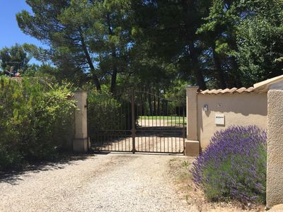 Photo for Provencal villa located in the middle of woods and vineyards on a large plot