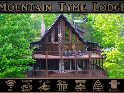 Mountain Tyme Lodge} Spectacular Mtn Views \ Hot Tub \ Pool Table \ WiFi