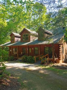 Photo for CABIN IN THE WOODS! STAY 7 NTS FOR 750.  STAY 2 NTS  FOR A  WEEKEND GETAWAY!!!