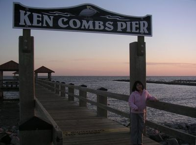 One of many piers within walking distance from our home