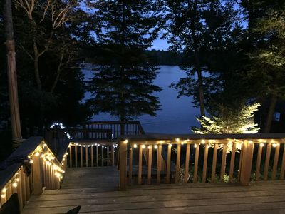 Photo for Stunning private beach and newly renovated, four-season, lakefront cottage