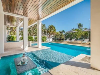Photo for SPECTACULAR LUXURY NEW WATERFRONT HOME w/Pool & Spa on Canal, Close to Pine Ave