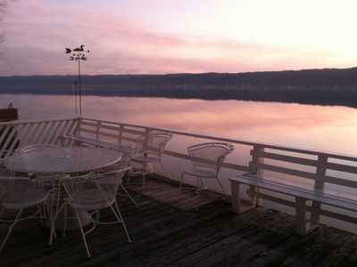Photo for See The Lake From Every Room!  Privacy, Lots Of Parking, Gorgeous Sunsets!