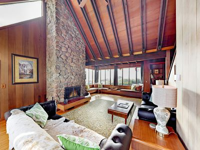 Photo for Sunny 2BR w/ Stylish Redwood Interior, Huge Windows & Sweeping Pacific Views