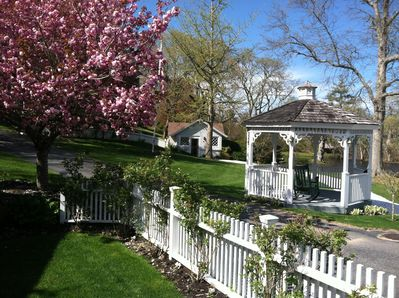 View of Gazebo and Boat House from Main House