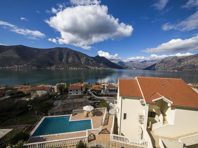 Photo for Beautifully situated apartment with fabulous views over the Kotor Fjord