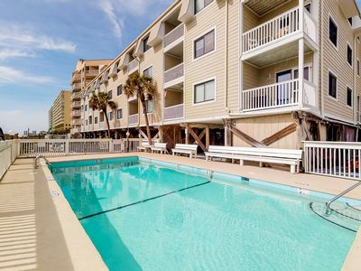 Photo for Oceanfront condo w/ balcony, shared pool & direct beach access!