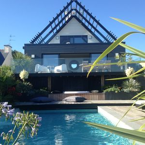 Photo for Villa Bellevue, Doelan, Brittany, 5 * Sea View, 4 Bedrooms, Pool, Spa
