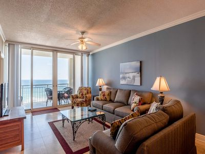 Photo for Spacious Two Bedroom Condo Overlooking the Gulf Coast! Private Balcony and Steps from the Beach!