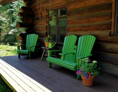 Photo for Secluded log cabin within 30 minutes of Whitefish Chain and NIsswa Shopping.