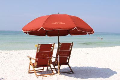 Private Beach Service - chairs, umbrella and table available
