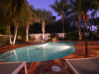 Photo for Beautiful Home and a Magical Pool , Close to Intracoastal, & Best Beaches