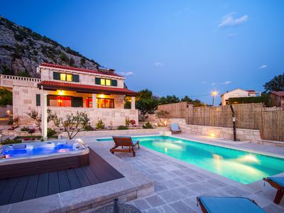Photo for VILLA RUNJE- STONE BEAUTY with heated pool, jacuzzi, amazing view on Split & sea
